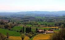 Landscape in the Razes region in France