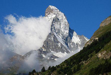 view on the Matterhorn