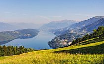 View over the Millstattersee from a mountainside