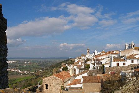 View on Monsaraz in Alentejo
