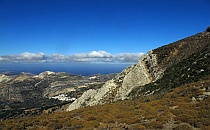 View across the Greek island Naxos