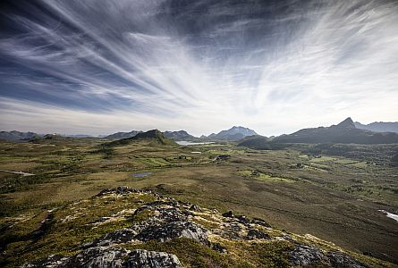 open wild moorlands in Norway