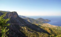 Panorama over the Peloponnese in Greece