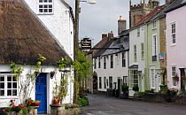 picturesque colorful cottages in Somerset