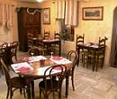 Restaurant area in Hotel le Templiers in France
