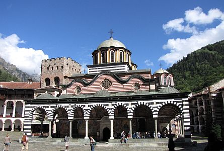 Rila Monastery in the Rila Mountains