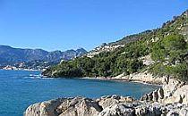 Bay in the Italian Riviera in Liguria