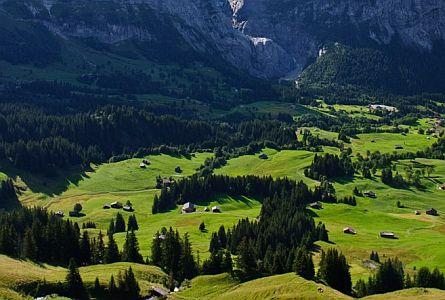 Picturesque valley in Grindelwald region