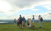Group of walkers enjoying a viewpoint