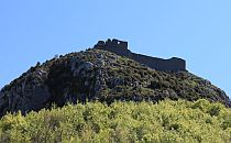 Montsegur castle seen from below