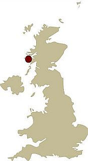 Map of Scotland showing the location of the Hebridean Island Adventure Guided walking holiday