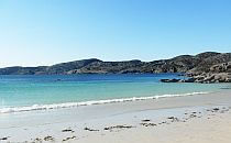 Beautiful sandy beach with azure waters