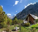 mountain hut in the French Alps