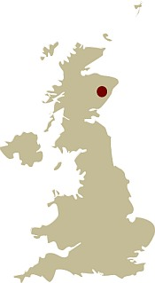 Map of Scotland showing the location of the Dinnet and Muick wildlife tour Guided walking holiday