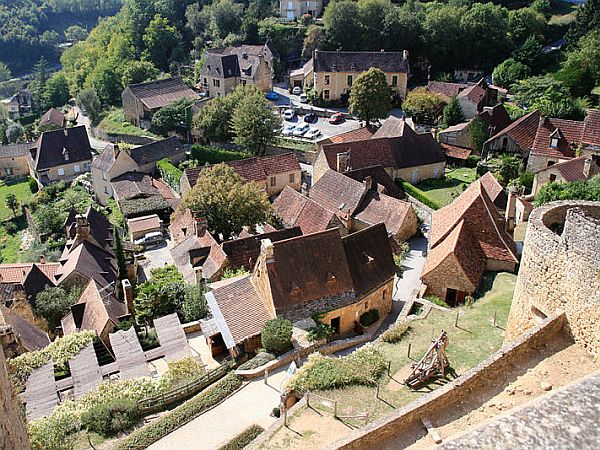 View from high point on scenic Dordogne village