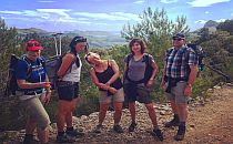 Happy walkers posing for a photo during their guided walking holiday in Mallorca
