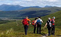 Group of women hiking a trail