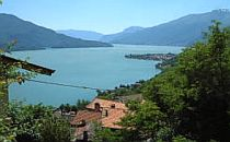 Wide view over Lake Como in northern Italy.
