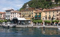 Town with mooring places on the shore of Lake Como.