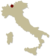 Map of Italy showing the location of the Explore Lake Como on foot Guided walking holiday