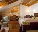 Luxury double bedroom in hotel