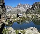 refuge in the Alps