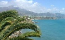 View towards Nerja Beach in Southern Spain