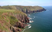 Rock formations at the sea-coast of Pembrokeshire