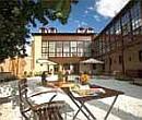 Outdoor terrace in courtyard