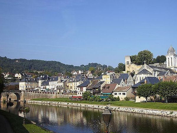 View on Montignac from across the Dordogne river.