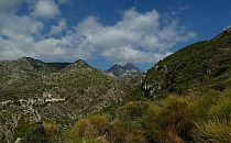 High mountains in Andalucia in Spain