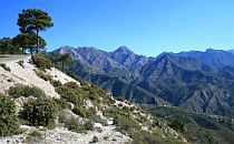 Andalucian mountains in Spain