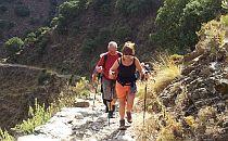 people walking uphill in the Alpujarras