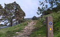 Walking path going uphill