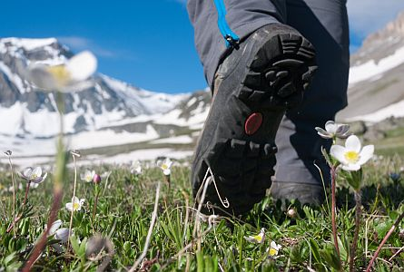 a walker in the mountain