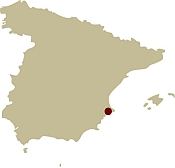 Map of Spain showing the location of the Walking & Wellness In Beautiful Marina Alta Mixed walking holiday