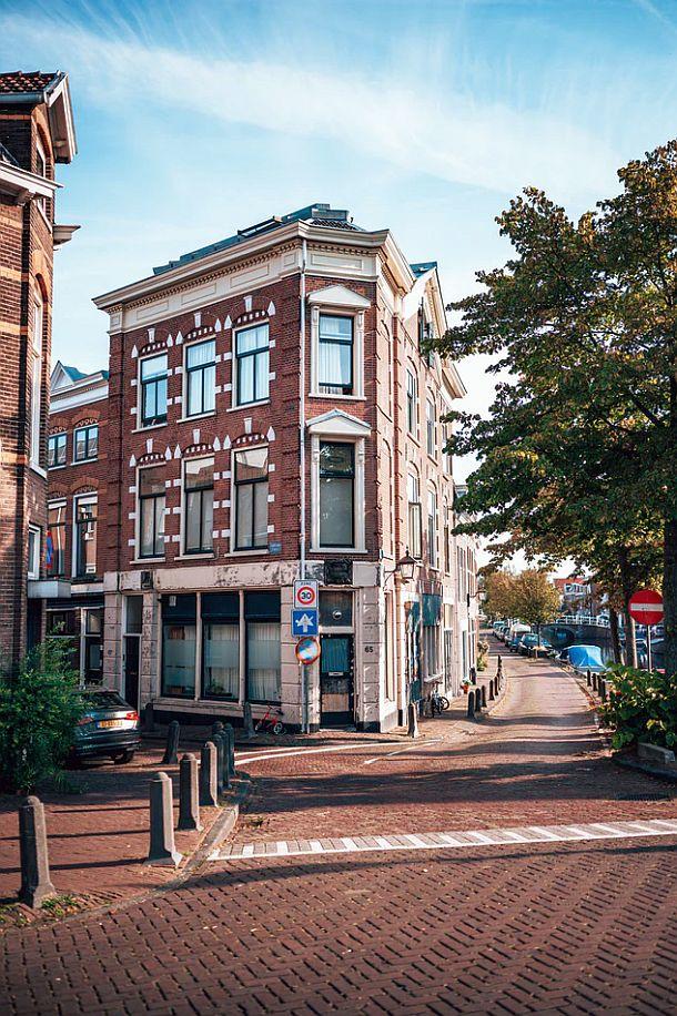 streetview of pedestrian area in Haarlem