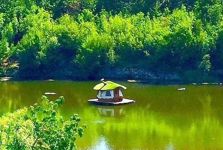 Floating hobbit house