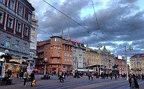 Pedestrians walking in the centre of Zagreb