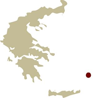 Map of Greece showing the location of the Hiking on Kos: In the Footsteps of Hippocrates Guided walking holiday