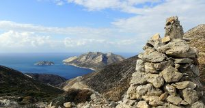 Spectacular view of the island of Naxos, Greece