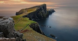 Beautiful peninsula edging into the ocean
