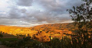Sunny hill in Catalonia