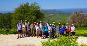group of walkers on cyprus
