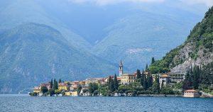 Town on lake Como